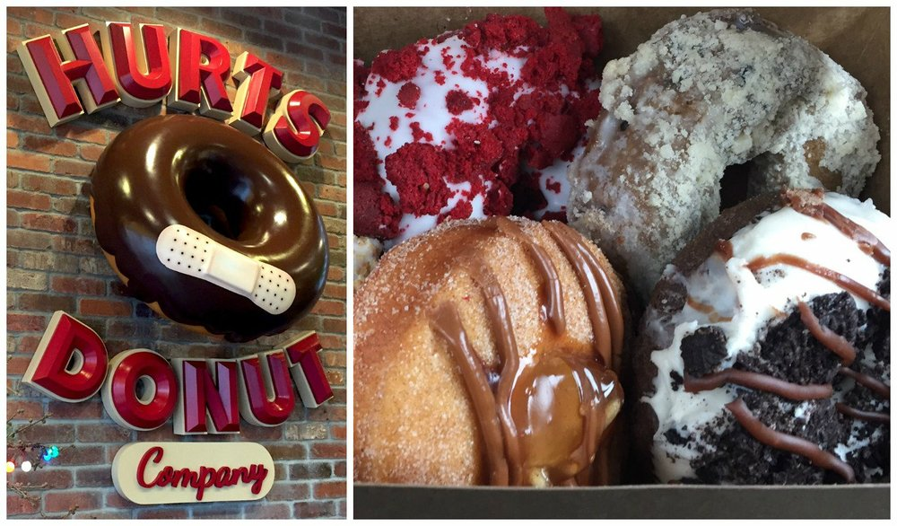 Hurts Donuts in downtown Little Rock has been hurting -- co-owner Connor Grimes reports that while in-shop sales are still doing well, he's lost most of his ofice-bound catering orders.  (Democrat-Gazette file photo)