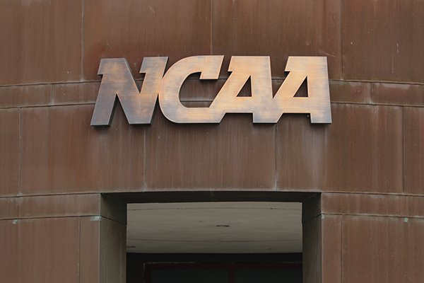 The nation office of the NCAA is shown in Indianapolis, Thursday, March 12, 2020. (AP Photo/Michael Conroy)