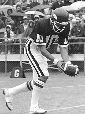 Steve Cox earned 10 combined letters in football, basketball, and outdoor track and field at Charleston High School in the 1970s. He played college football at Tulsa and Arkansas and in the NFL for eight years, where he helped the Washington Redskins to a Super Bowl championship.