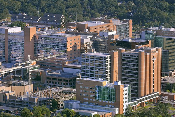 The University of Arkansas for Medical Sciences campus in Little Rock is shown in a June 2016 file photo.