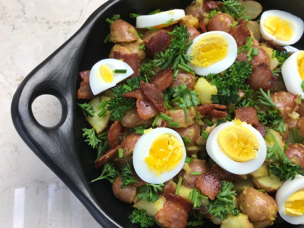 Warm Potato Salad With Soft-Cooked Eggs  (Arkansas Democrat-Gazette/Kelly Brant)