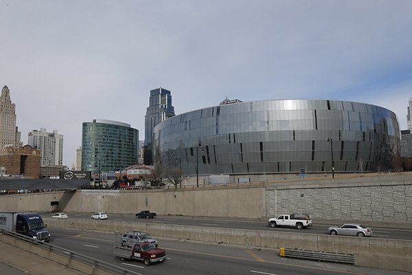 This Friday, Feb. 21, 2014 photograph shows The Sprint Center in Kansas City, Mo. (AP Photo/Orlin Wagner)