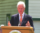Clinton helps dedicate Hope home as historic site