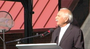 Moshe Safdie, the architect of Crystal Bridges, speaks at the museum's dedication ceremony Friday.