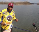 Bass fishing in the Arkansas River