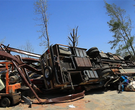 RV uprighted in Vilonia