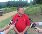 Sheriff speaks after bodies of father, son found