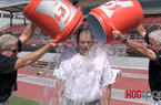 Nate Allen accepts the ALS Ice Bucket Challenge