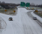 Wrong-way driver on sleet-covered I-630