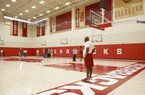 Mike Anderson, on the practice facility
