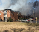 Crews battle apartment fire in Pine Bluff