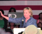 Hillary Clinton campaigns at Philander Smith