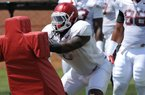JaMichael Winston on filling in for Deatrich Wise, Bret Bielema's pep talk + more