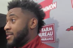 Jared Cornelius on his streak of 100-yard games, his recovery from a broken arm last year + more