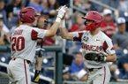 Dave Van Horn, players recap CWS victory over Florida